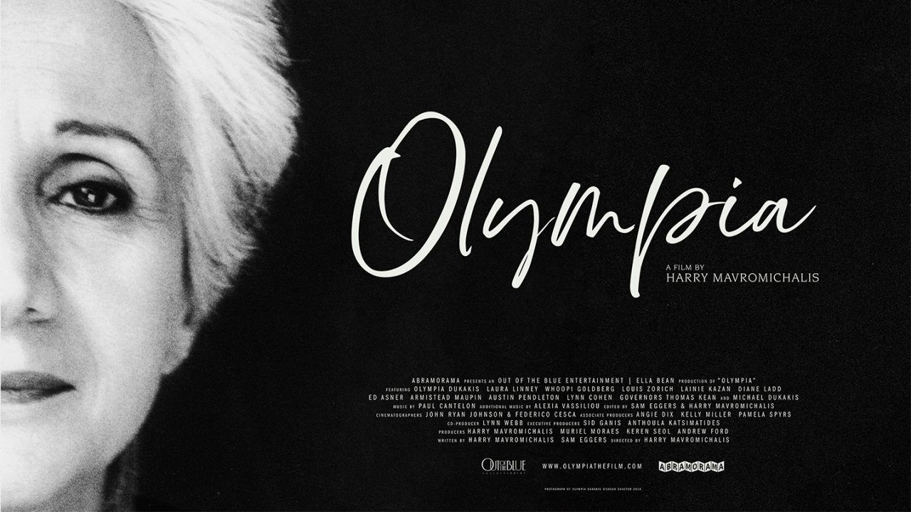 """Beside a woman's face is the name """"Olympia."""""""